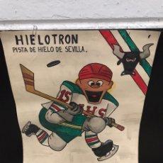 Coleccionismo deportivo: POSTER CARTEL HOKEY SOBRE HIELO ANTIGUO. Lote 200538296