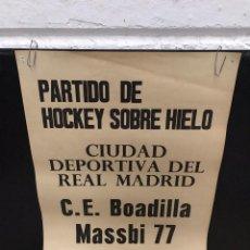 Coleccionismo deportivo: POSTER CARTEL HOKEY SOBRE HIELO ANTIGUO. Lote 200538558