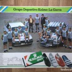 Coleccionismo deportivo: CARTEL POSTER EQUIPO CICLISTA KELME , BELDA, GUZMAN, ASESOR TECNICO EDDY MERCKX CICLISMO. Lote 201660702