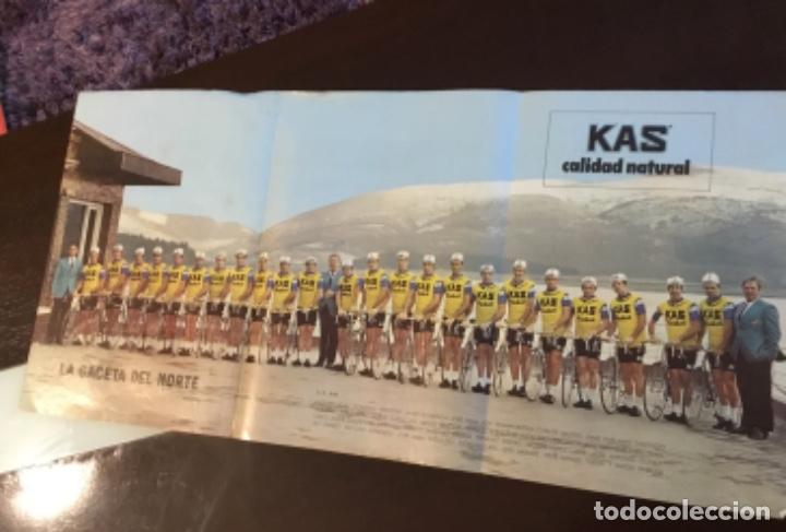KAS EQUIPO DE CICLISMO 1973 POSTER 68X 33 MAPA TOUR FRANCE LA GACETA DEL NORTE (Coleccionismo Deportivo - Carteles otros Deportes)