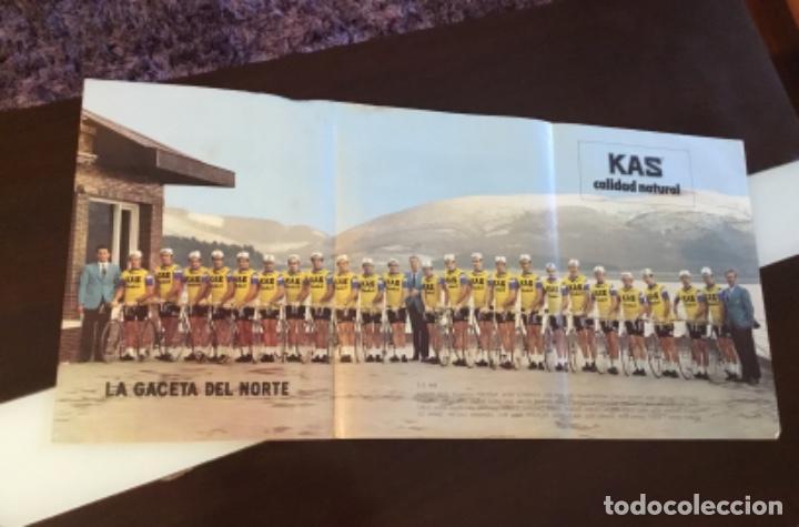 Coleccionismo deportivo: KAS Equipo de Ciclismo 1973 Poster 68x 33 Mapa Tour France La Gaceta del Norte - Foto 2 - 202519868