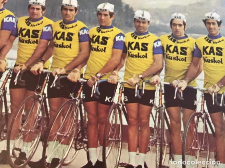 Coleccionismo deportivo: KAS Equipo de Ciclismo 1973 Poster 68x 33 Mapa Tour France La Gaceta del Norte - Foto 3 - 202519868