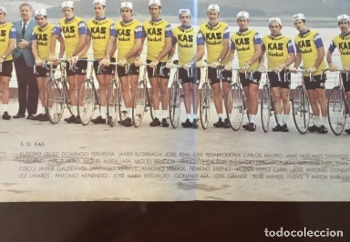 Coleccionismo deportivo: KAS Equipo de Ciclismo 1973 Poster 68x 33 Mapa Tour France La Gaceta del Norte - Foto 4 - 202519868