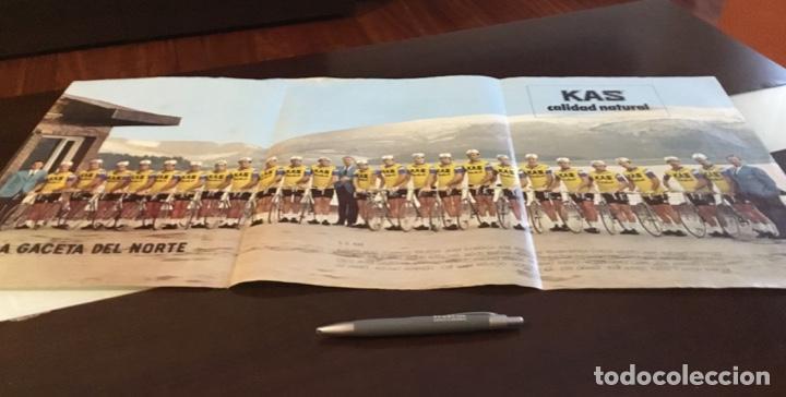 Coleccionismo deportivo: KAS Equipo de Ciclismo 1973 Poster 68x 33 Mapa Tour France La Gaceta del Norte - Foto 5 - 202519868