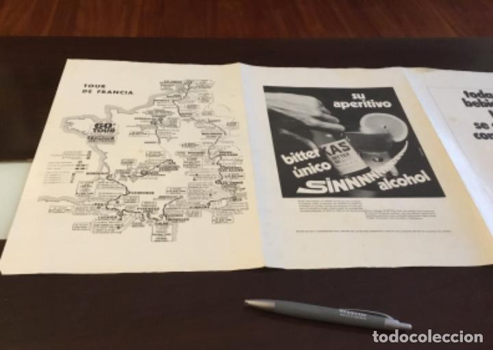 Coleccionismo deportivo: KAS Equipo de Ciclismo 1973 Poster 68x 33 Mapa Tour France La Gaceta del Norte - Foto 6 - 202519868