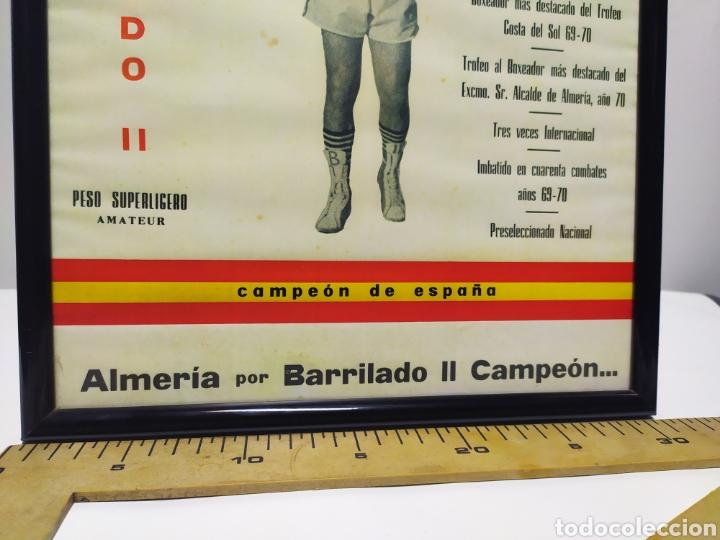 Coleccionismo deportivo: Lámina de Barrilado boxeador Almería año 70/71 con firma dedicatoria - Foto 2 - 202905587