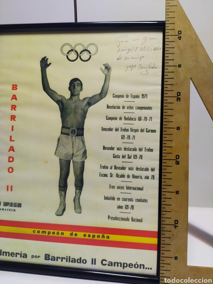 Coleccionismo deportivo: Lámina de Barrilado boxeador Almería año 70/71 con firma dedicatoria - Foto 3 - 202905587