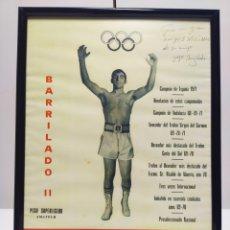 Coleccionismo deportivo: LÁMINA DE BARRILADO BOXEADOR ALMERÍA AÑO 70/71 CON FIRMA DEDICATORIA. Lote 202905587