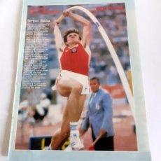Coleccionismo deportivo: PÓSTER-LÁMINA COLECCIÓN ÍDOLOS DEL DEPORTE. FÚTBOL - SERGUEI BUBKA. GENTE MENUDA ABC AÑOS 80. Lote 202979853