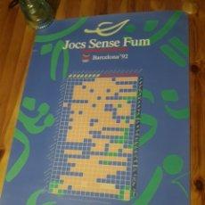 Coleccionismo deportivo: CARTEL JOCS SENSE FUM BARCELONA 1992 JUEGOS OLIMPICOS OLIMPIADAS OLYMPIC. Lote 203087222