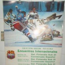 Coleccionismo deportivo: 1973 PISTA HIELO FC BARCELONA ENCUENTROS INTERNACIONALES FINLANDIA - ESPAÑA - BARCELONA DANONE. Lote 203479275
