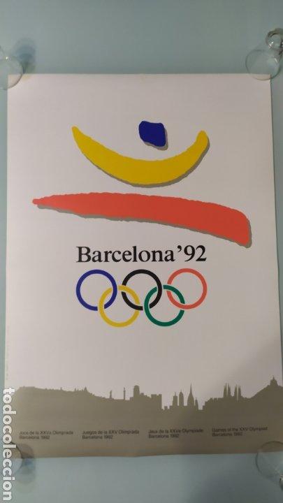 CARTEL OFICIAL DE BARCELONA 92 EDITADO POR EL COOB'92 AÑO 1988. TAMAÑO 70X50 DE JOSEP M. TRIAS.NUEVO (Coleccionismo Deportivo - Carteles otros Deportes)