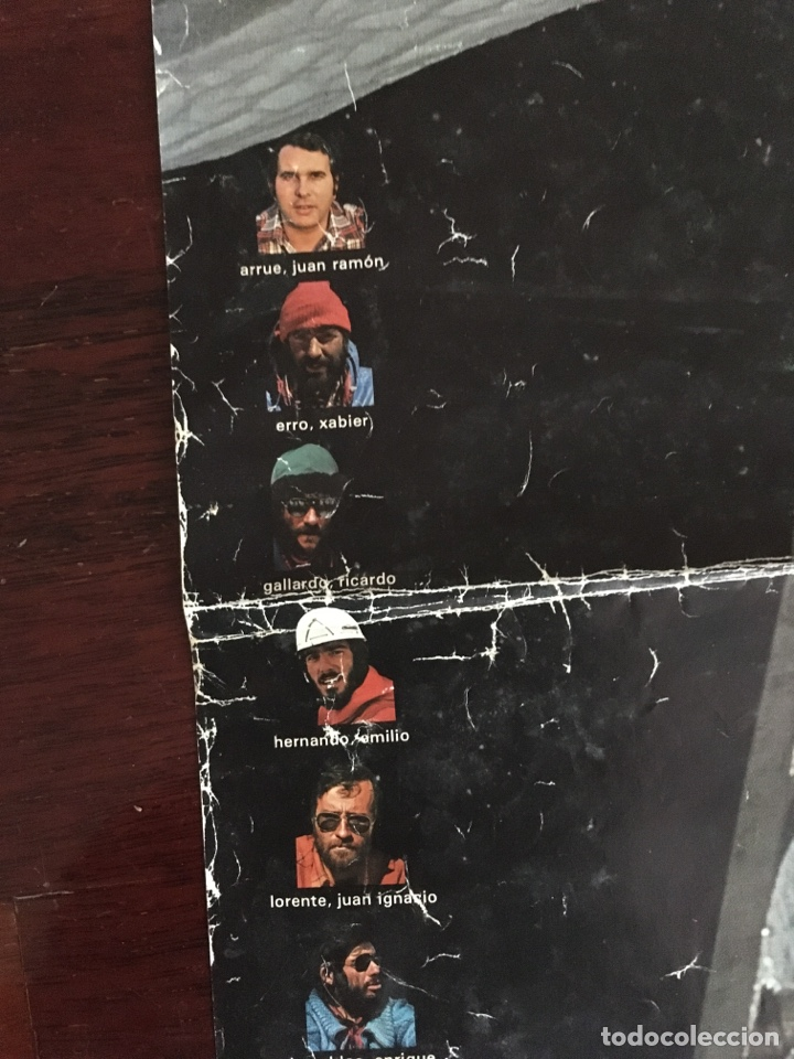 Coleccionismo deportivo: Poster cartel expedicion vasca everest euskal espedizioa 1980. Ouraline grasa calzado - Foto 7 - 204079307