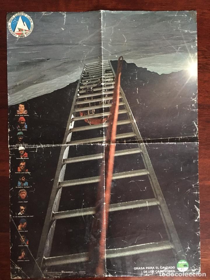 POSTER CARTEL EXPEDICION VASCA EVEREST EUSKAL ESPEDIZIOA 1980. OURALINE GRASA CALZADO (Coleccionismo Deportivo - Carteles otros Deportes)