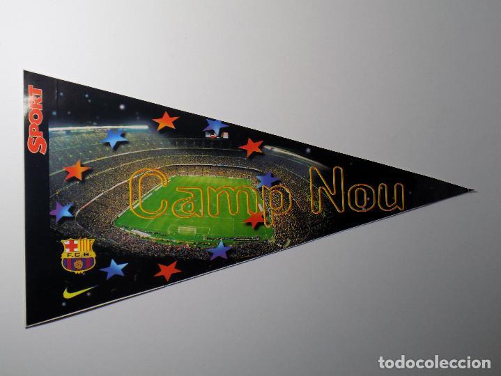 BANDERIN ADHESIVO SPORT F.C.B-CAMP NOU (Coleccionismo Deportivo - Carteles otros Deportes)