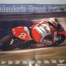 Coleccionismo deportivo: MOTOCICLISMO.CALENDARIO GRAND PRIX 1993.CIRCUITOS Y FECHAS.POSTER ALEX CRIVILLE.. Lote 205100097