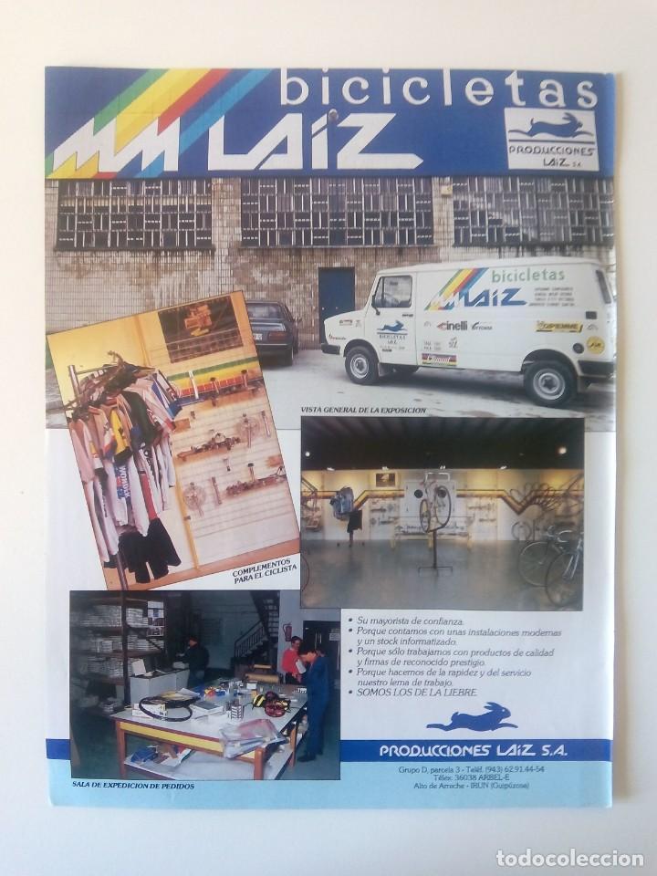 PUBLICIDAD CICLISMO 1987. BICICLETAS LAIZ. IRÚN. (Coleccionismo Deportivo - Carteles otros Deportes)