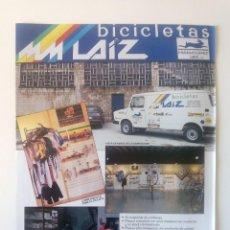 Coleccionismo deportivo: PUBLICIDAD CICLISMO 1987. BICICLETAS LAIZ. IRÚN.. Lote 205672742