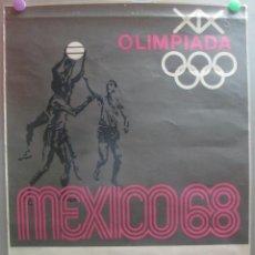 Coleccionismo deportivo: CARTEL DEPORTE BALONCESTO XIX JUEGOS OLIMPICOS OLIMPIADA MEJICO MEXICO 1968 68 ORIGINAL. Lote 205732066