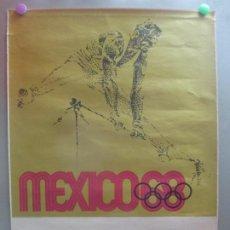 Coleccionismo deportivo: CARTEL DEPORTE ATLETISMO GIMNASIA XIX OLIMPIADA JUEGOS OLIMPICOS MEJICO MEXICO 1968 68 ORIGINAL. Lote 205732350