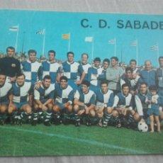 Coleccionismo deportivo: CLUB DEPORTIVO SABADELL PLANTILLA 1967-68 FOTOS SEGUÍ. Lote 205827330