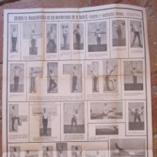 Coleccionismo deportivo: SUPLEMENTO DE LA GIMNASIA PARA TODOS POR L.G. KUMLIEN. CUADRO III. HOMBRES Y MUCHACHOS JOVENES.. Lote 206525680