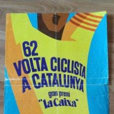 Coleccionismo deportivo: CARTEL 62 VOLTA CICLISTA A CATALUNYA, AÑO 1982.. Lote 206953036