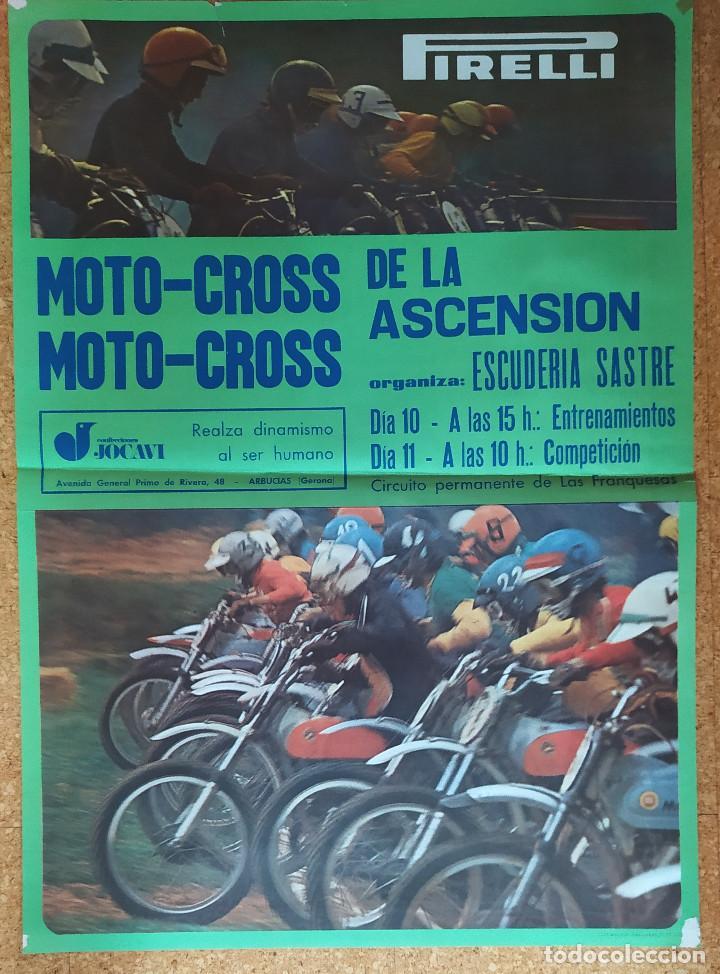 CARTEL O POSTER MOTOCROSS DE LA ASCENSIÓN - LES FRANQUESES DEL VALLÉS - JOCAVI - BULTACO - MONTESA (Coleccionismo Deportivo - Carteles otros Deportes)