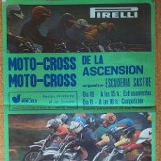 Coleccionismo deportivo: CARTEL O POSTER MOTOCROSS DE LA ASCENSIÓN - LES FRANQUESES DEL VALLÉS - JOCAVI - BULTACO - MONTESA. Lote 207215898