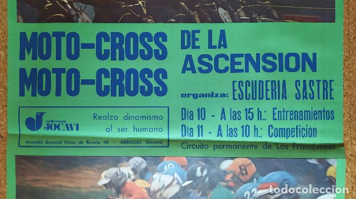 Coleccionismo deportivo: Cartel o poster MOTOCROSS de la ASCENSIÓN - Les Franqueses del Vallés - JOCAVI - BULTACO - MONTESA - Foto 2 - 207215898