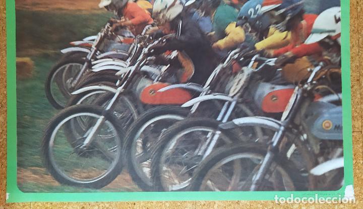 Coleccionismo deportivo: Cartel o poster MOTOCROSS de la ASCENSIÓN - Les Franqueses del Vallés - JOCAVI - BULTACO - MONTESA - Foto 3 - 207215898