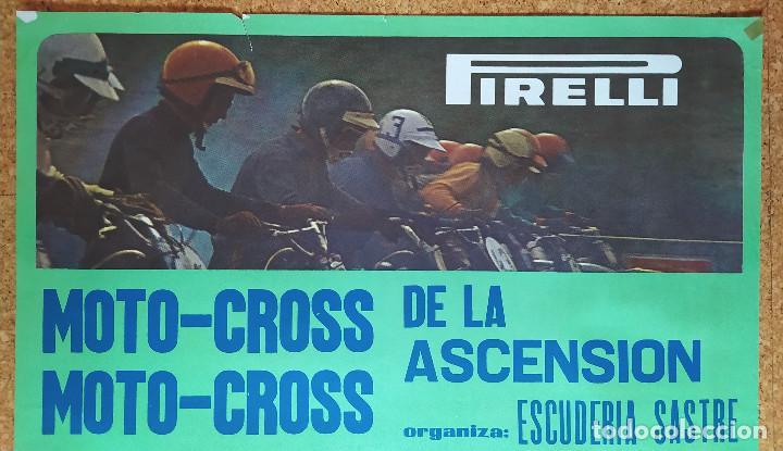 Coleccionismo deportivo: Cartel o poster MOTOCROSS de la ASCENSIÓN - Les Franqueses del Vallés - JOCAVI - BULTACO - MONTESA - Foto 4 - 207215898