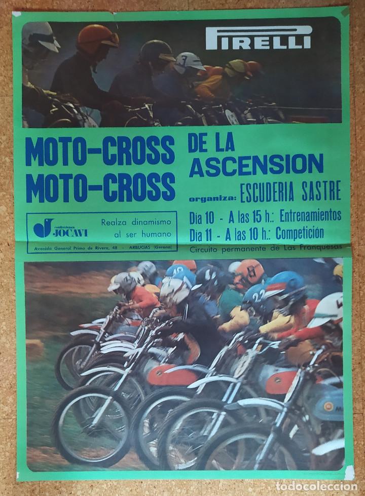 Coleccionismo deportivo: Cartel o poster MOTOCROSS de la ASCENSIÓN - Les Franqueses del Vallés - JOCAVI - BULTACO - MONTESA - Foto 5 - 207215898