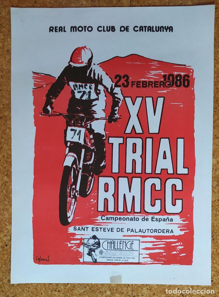 CARTEL O POSTER XV TRIAL RMCC - 23 DE FEBRERO DE 1986 - SANT ESTEVE DE PALAUTORDERA (Coleccionismo Deportivo - Carteles otros Deportes)