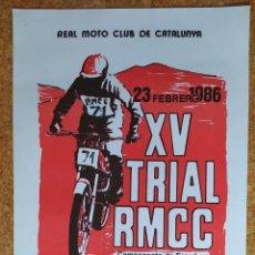Coleccionismo deportivo: CARTEL O POSTER XV TRIAL RMCC - 23 DE FEBRERO DE 1986 - SANT ESTEVE DE PALAUTORDERA. Lote 207232298
