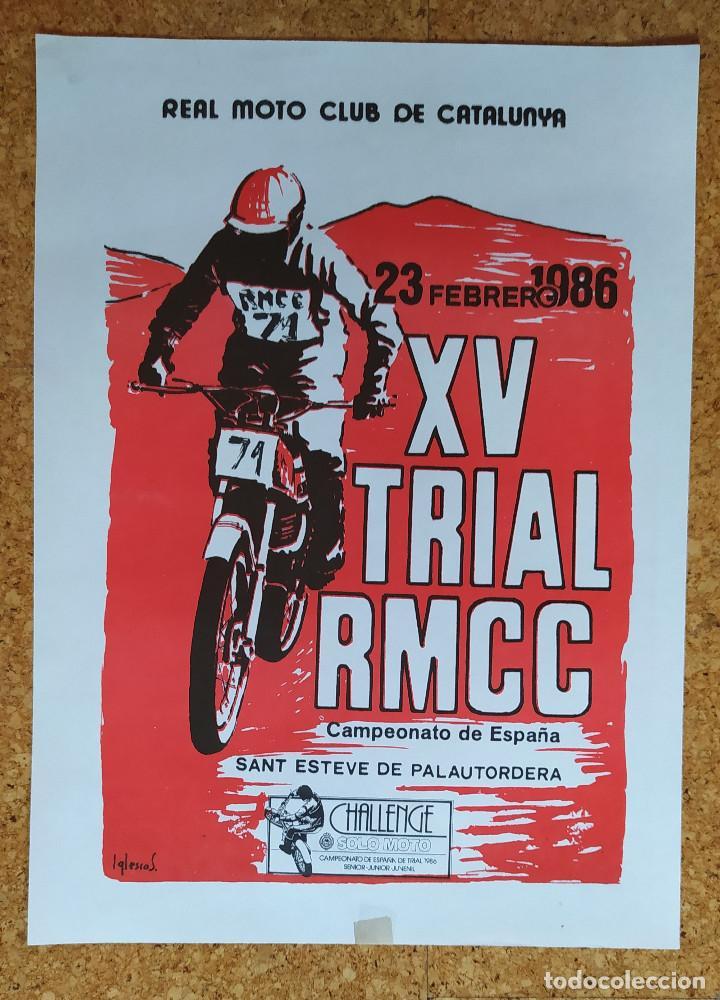 Coleccionismo deportivo: CARTEL O POSTER XV TRIAL RMCC - 23 de febrero de 1986 - Sant Esteve de Palautordera - Foto 3 - 207232298
