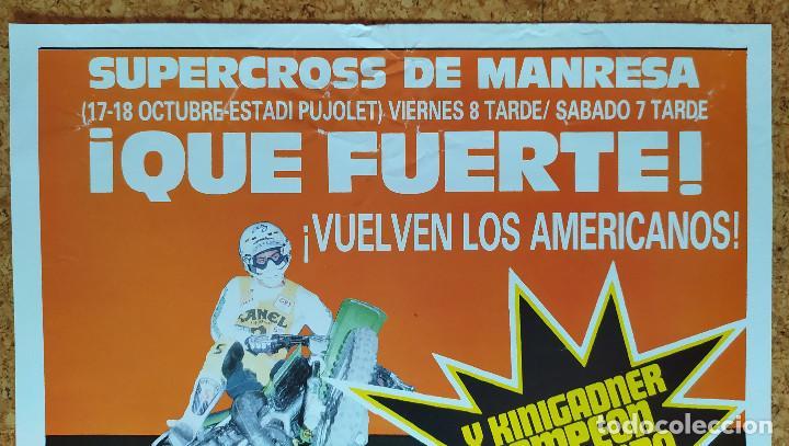 Coleccionismo deportivo: CARTEL O POSTER SUPERCROSS DE MANRESA - 17 y 18 de octubre de 1986 - KINIGADNER Campeón del Mundo - Foto 3 - 207233342