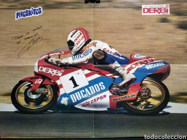 """PÓSTER CAMPEÓN DEL MUNDO DE MOTOS 1988 JORGE MARTÍNEZ """"ASPAR"""" (Coleccionismo Deportivo - Carteles otros Deportes)"""