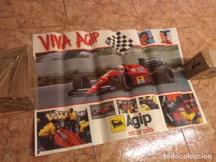 Coleccionismo deportivo: Antiguo poster años 80 Agip Formula 1 Ferrari - Foto 2 - 209870832