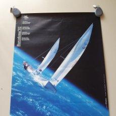 Coleccionismo deportivo: POSTER CONMEMORATIVO BARCELONA 92 VELA. 50X70. PATROCINADO POR TELEFONICA Y FOTOGRAFIAS DE LA NASA. Lote 209885056