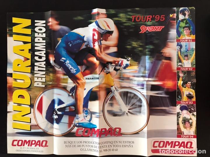 POSTER MIGUEL INDURAIN PENTACAMPEÓN TOUR DE FRANCIA 1995 (Coleccionismo Deportivo - Carteles otros Deportes)