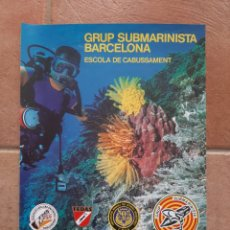Coleccionismo deportivo: CARTEL DEL GRUP SUBMARINISTA BARCELONA, CURSOS DE BUCEO. Lote 210440231