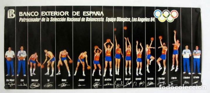 POSTER SELECCIÓN ESPAÑOLA DE BALONCESTO MEDALLA DE PLATA JUEGOS OLÍMPICOS LOS ÁNGELES 1984 (Coleccionismo Deportivo - Carteles otros Deportes)
