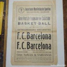 Collezionismo sportivo: IMPORTANTE MANIFESTACIÓN ESPORTIVA BASKETBALL FEMENINO. Lote 211488704