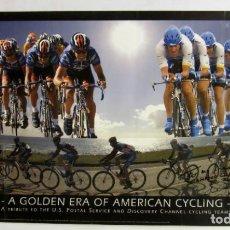 Coleccionismo deportivo: U.S. POSTAL (1996-2007) DEDICADO POR JOHAN BRUYNEL. A GOLDEN ERA OF AMERICAN CYCLING. Lote 165090274