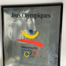 Coleccionismo deportivo: B-975. CARTEL JEUX OLIMPYQUES, BARCELONA 92. NUMERADO.. Lote 211658720