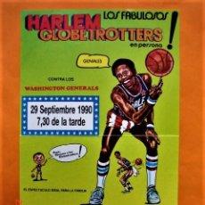 Coleccionismo deportivo: HARLEM GLOBETROTTERS PUBLICIDAD ACTUACIÓN EN PALACIO DE DEPORTES DE OVIEDO 29 SEPTIEMBRE 1990. Lote 212720095