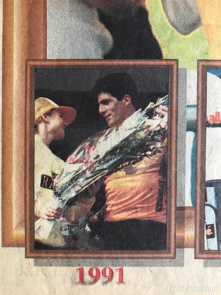 Coleccionismo deportivo: Envío 8€. Poster periodico MARCA, ¨¨Miguel Indurain rey de Francia¨ tour´ 95. mide 58x39cm. - Foto 2 - 213871351