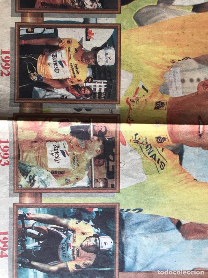 Coleccionismo deportivo: Envío 8€. Poster periodico MARCA, ¨¨Miguel Indurain rey de Francia¨ tour´ 95. mide 58x39cm. - Foto 3 - 213871351