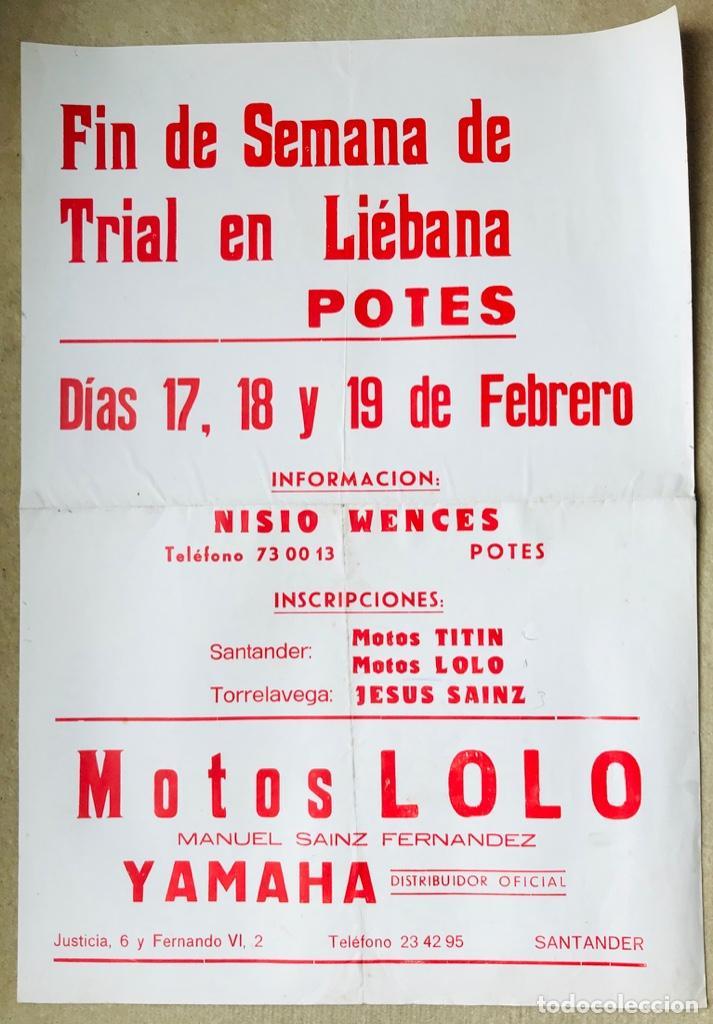 Cartel Fin De Semana De Trial En Liébana Pote Buy Old Posters Of Other Sports At Todocoleccion 214366230